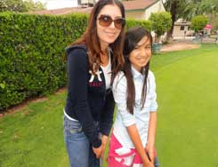 mother, daughter golf LGA