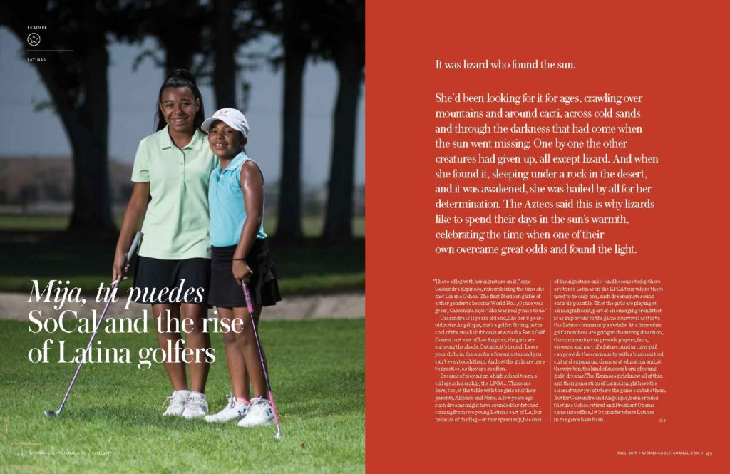 Women Golf Journal Latina Golfers Story Page 1