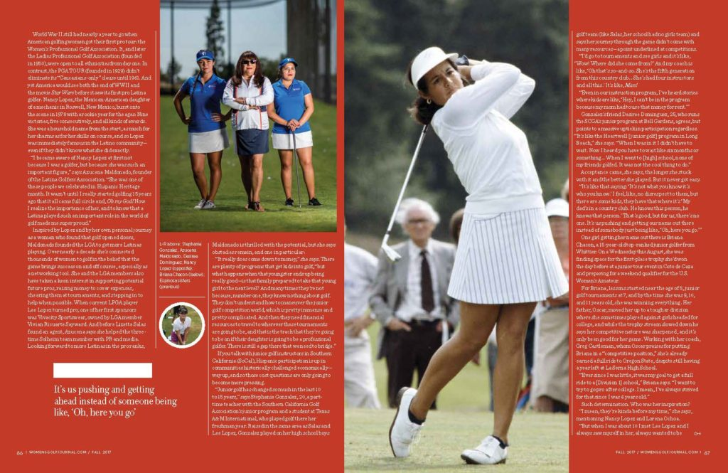 Women Golf Journal Latina Golfers Story Page 2