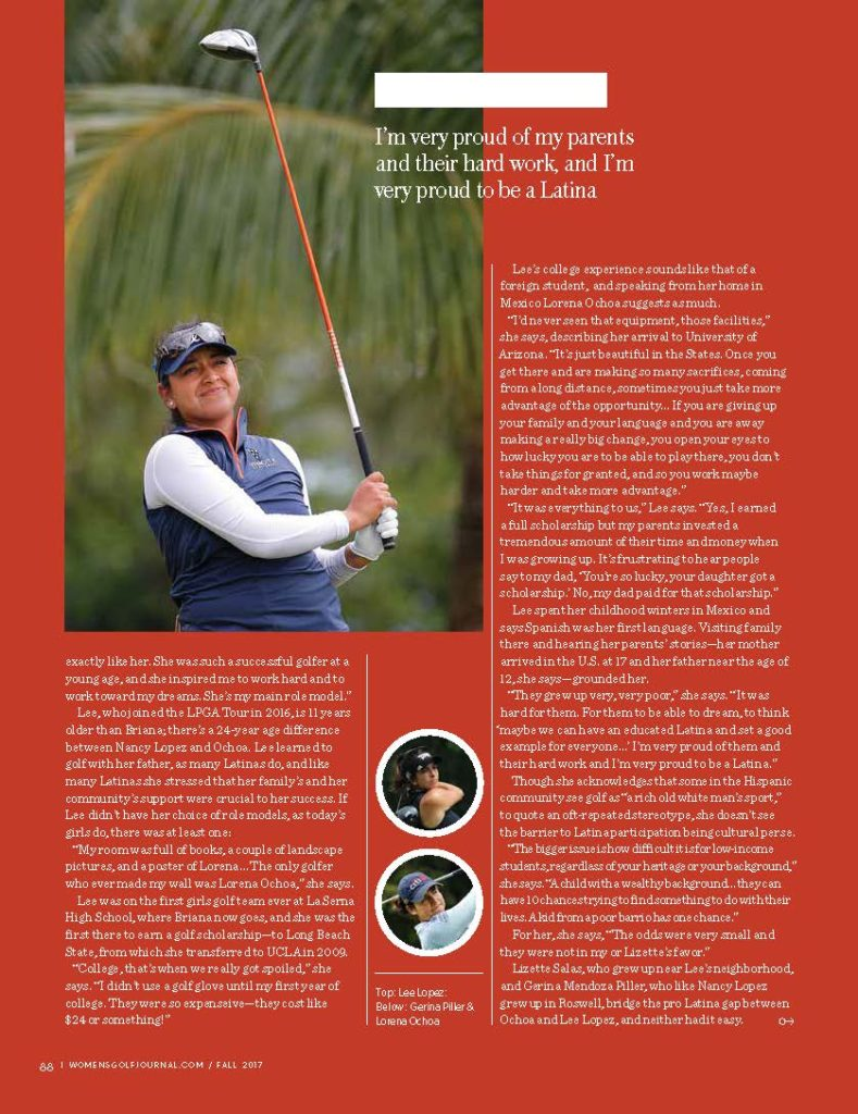 Women Golf Journal Latina Golfers Story Page 3